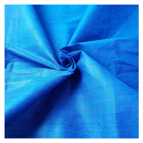 Khadi India Cotton Cloth Material - Blue