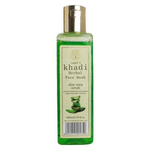 Khadi Herbal Face Wash-Aloe Vera Scrub (200ml)