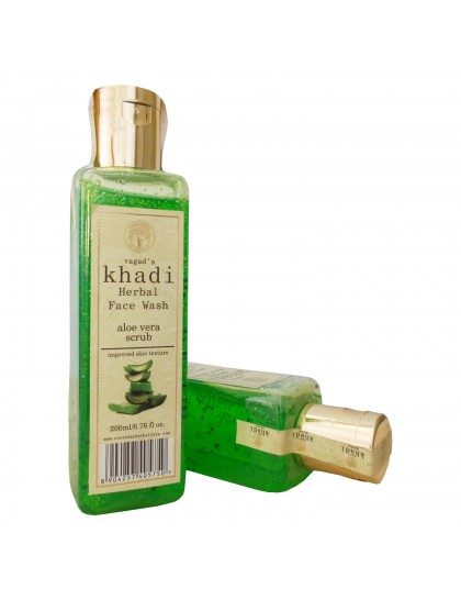 Khadi India Herbal Face Wash- Aloe Vera Scrub (200ml)