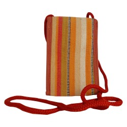 Handmade Woman's Mobile Holder Purse - Red