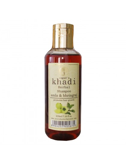 Khadi India Herbal  Shampoo-Amla & Bhringraj (210ml)