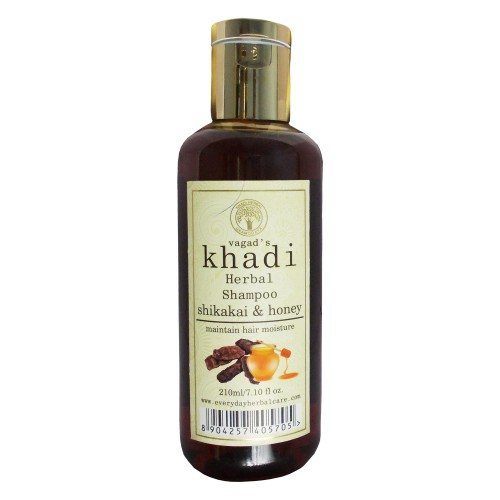 Khadi Herbal  Shampoo-Shikakai & Honey (210ml)