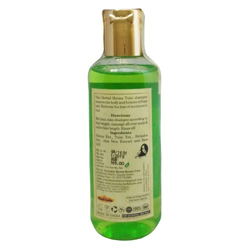 Khadi Herbal  shampoo-Heena & Tulsi (210ml)