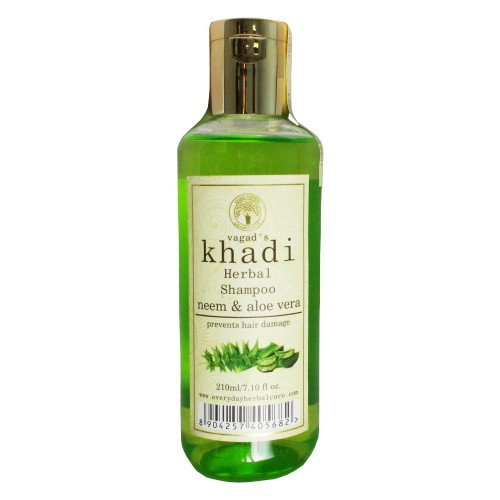 Khadi Herbal  Shampoo-Neem & Aloe Vera (210ml)