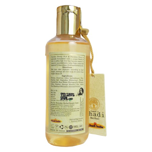 Khadi Ayurvedic Shampoo-Garden Honey (210ml)