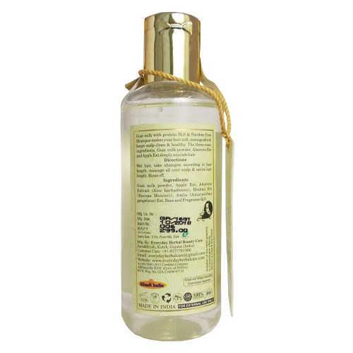 Khadi Ayurvedic Shampoo-Goat Milk with Protein (210ml)