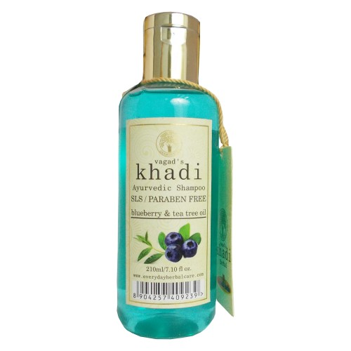 Khadi Ayurvedic Shampoo-Blueberry & Tea Tree Oil (210ml)