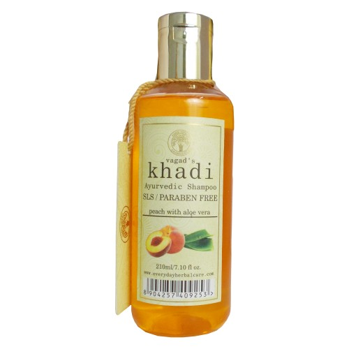 Khadi Ayurvedic Shampoo-Peach With Aloe Vera (210ml)