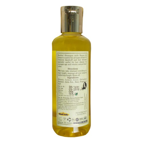 Khadi Herbal  Shampoo-Lemon & Honey (210ml)