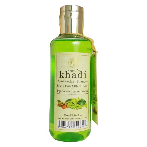 Khadi Ayurvedic Shampoo-Jojoba with Green Coffee (210ml)