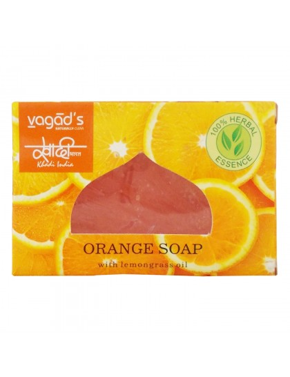 Khadi India Herbal Handmade Soap-Orange (100g)