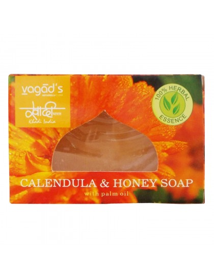 Khadi India Herbal Handmade Soap - Calendula & Honey (100g)