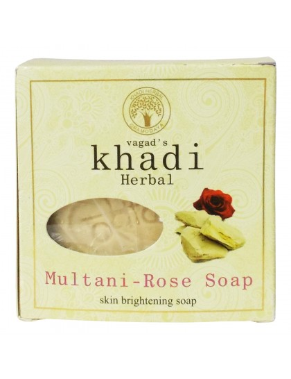 Khadi India Herbal Soap-Multani-Rose (100g)