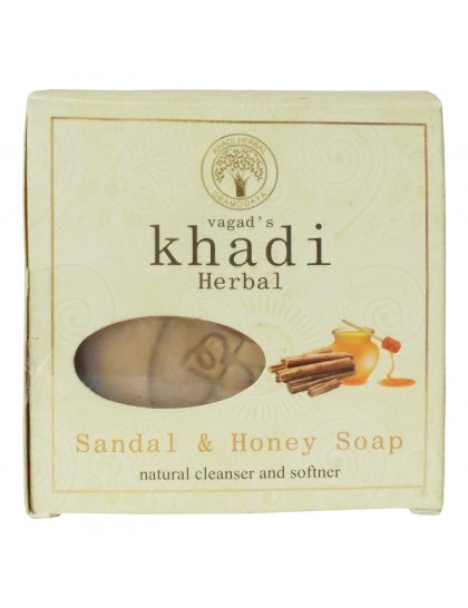 Khadi India Herbal Soap-Sandal & Honey (100g)