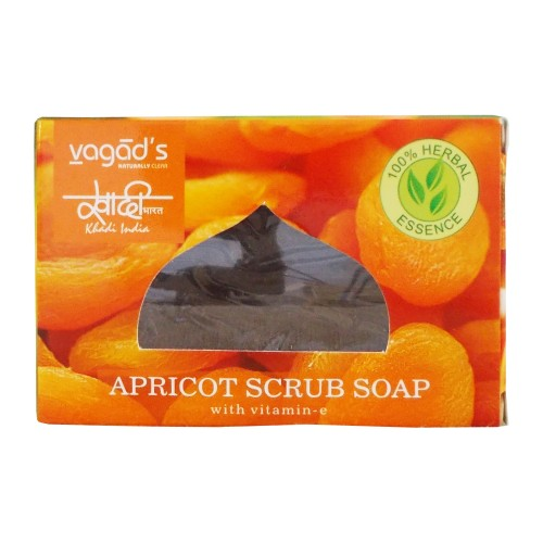 Khadi India Herbal Handmade Soap-Apricot scrub (100g)