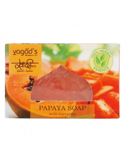 Khadi India Herbal Handmade Soap-Papaya (100g)