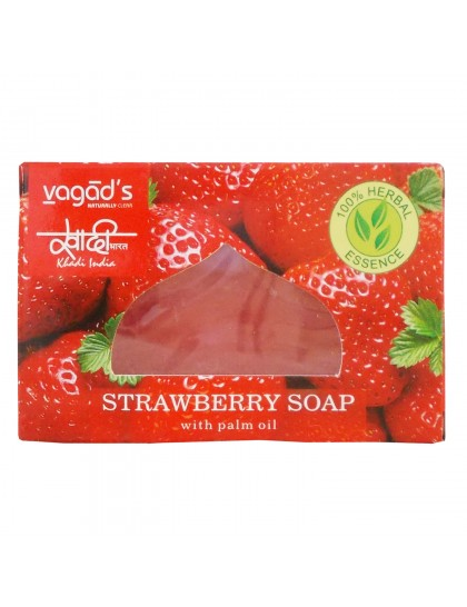 Khadi India Herbal Handmade Soap-Strawberry (100g)