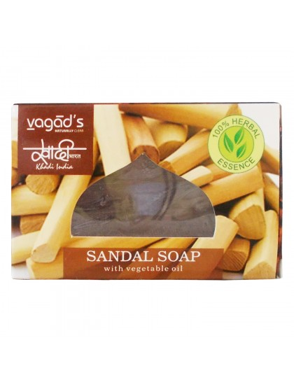 Khadi India Herbal Handmade Soap-Sandal (100g)